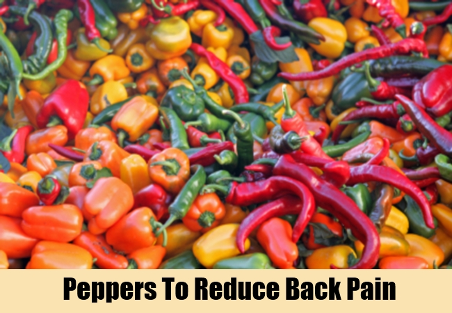 Peppers To Reduce Back Pain