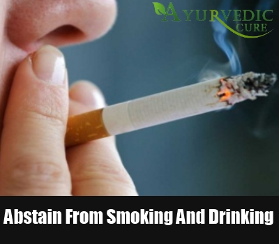 Abstain From Smoking And Drinking