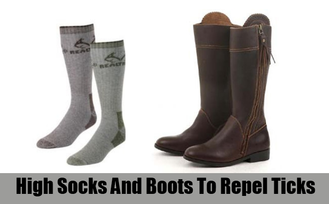 High Socks And Boots To Repel Ticks