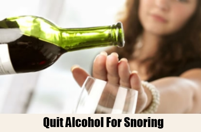 Quit Alcohol For Snoring