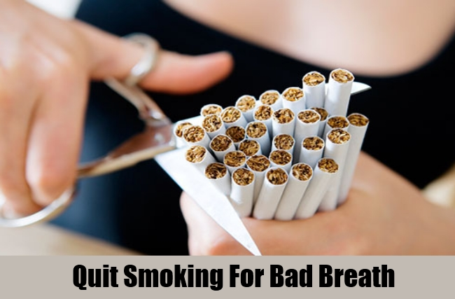 Quit Smoking For Bad Breath