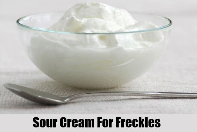 Sour Cream For Freckles
