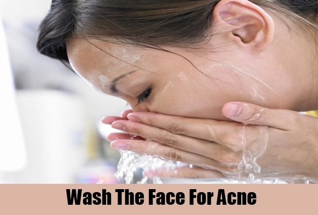 Wash The Face For Acne