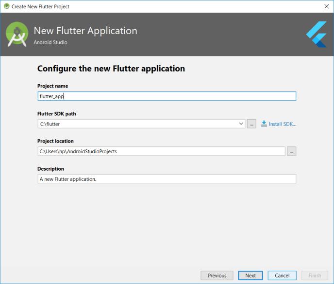 flutter app project name