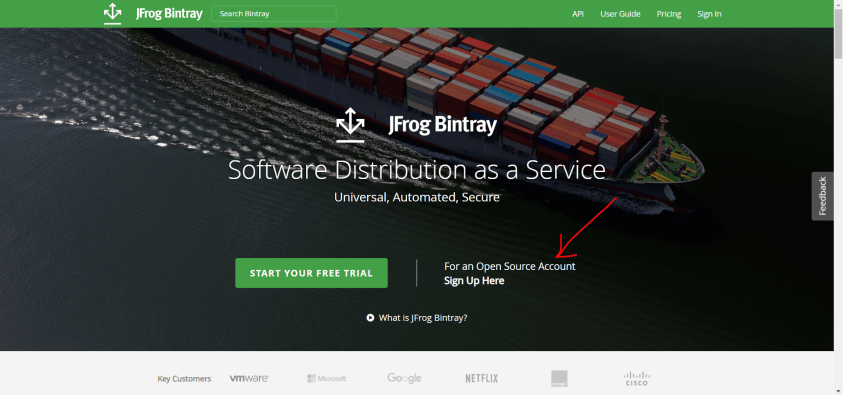 bintray open source account