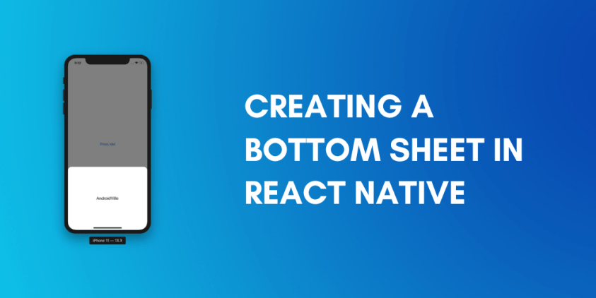 Creating a bottom sheet in react native