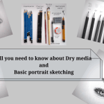 Sketching Portraits Using Dry Medium Such As Pencil And Charcoal