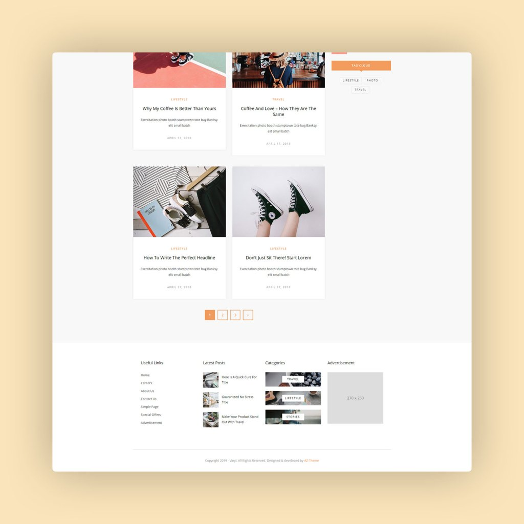 Vinyl A Lifestyle WordPress Theme Blog 3