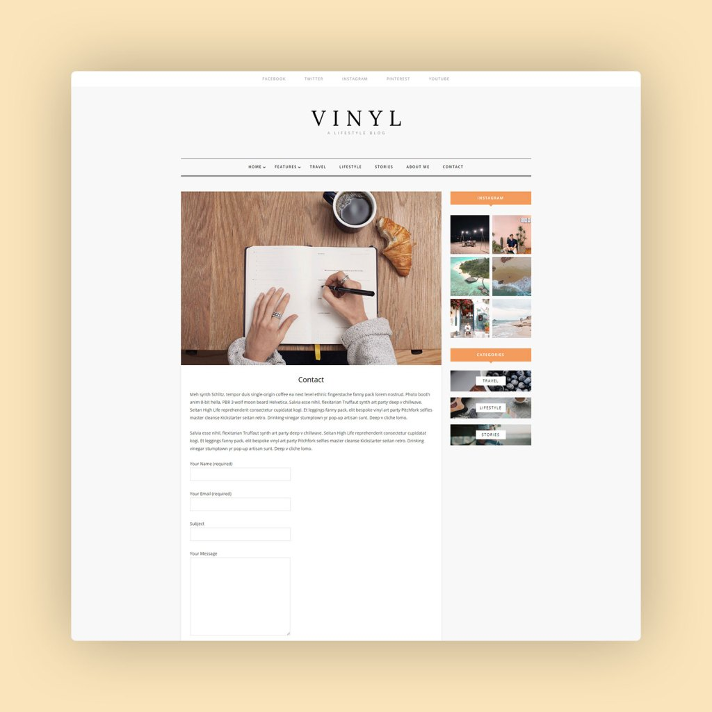 Vinyl A Lifestyle WordPress Theme Blog 4