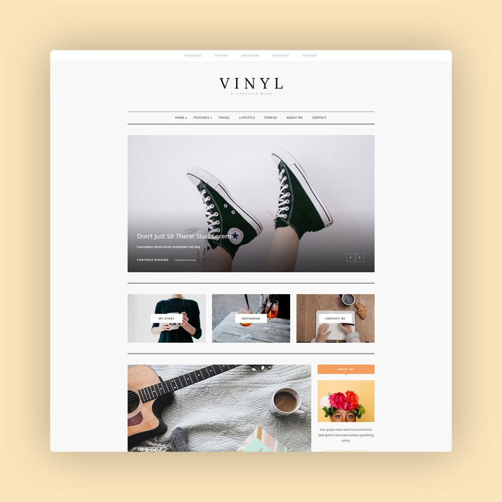 Vinyl A Lifestyle WordPress Theme Blog 1