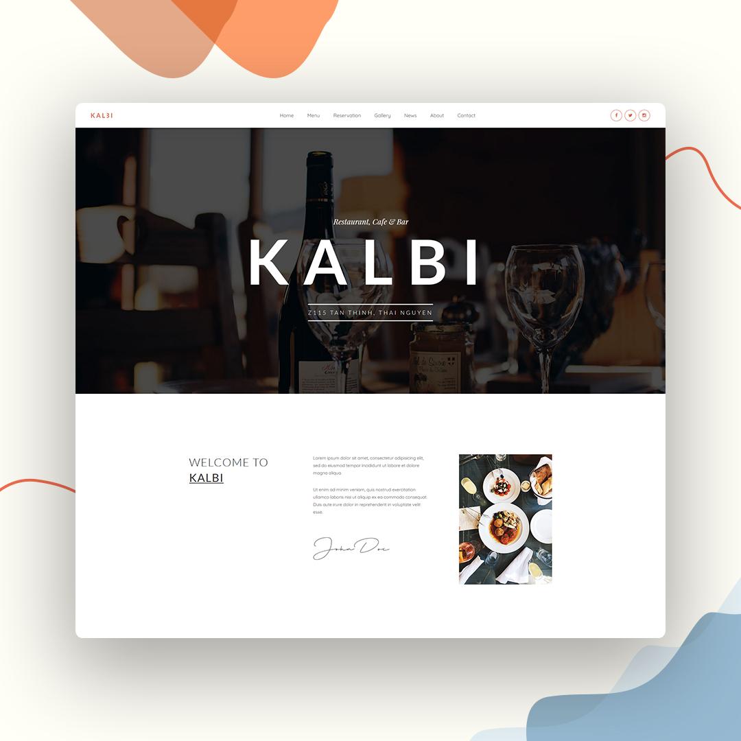 Kalbi - Restaurant Cafe Bar WordPress Theme