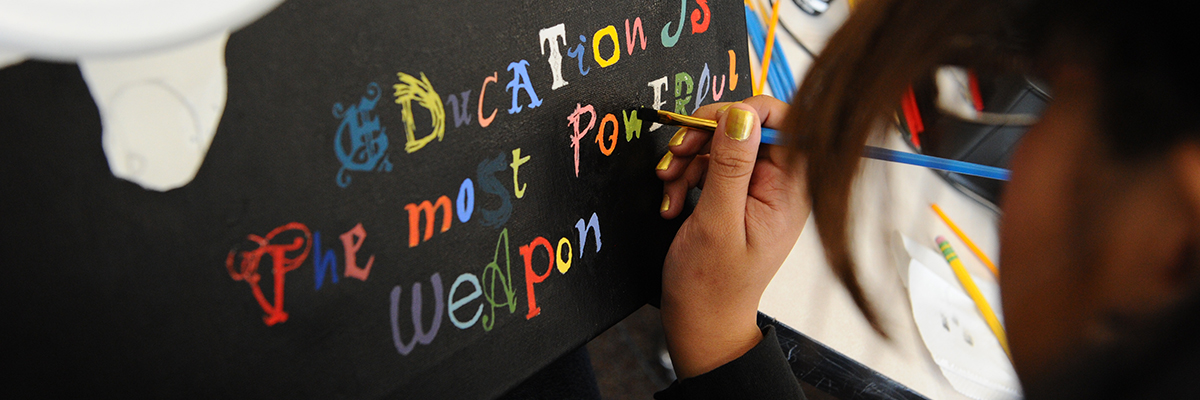 Education is the most powerful weapon art