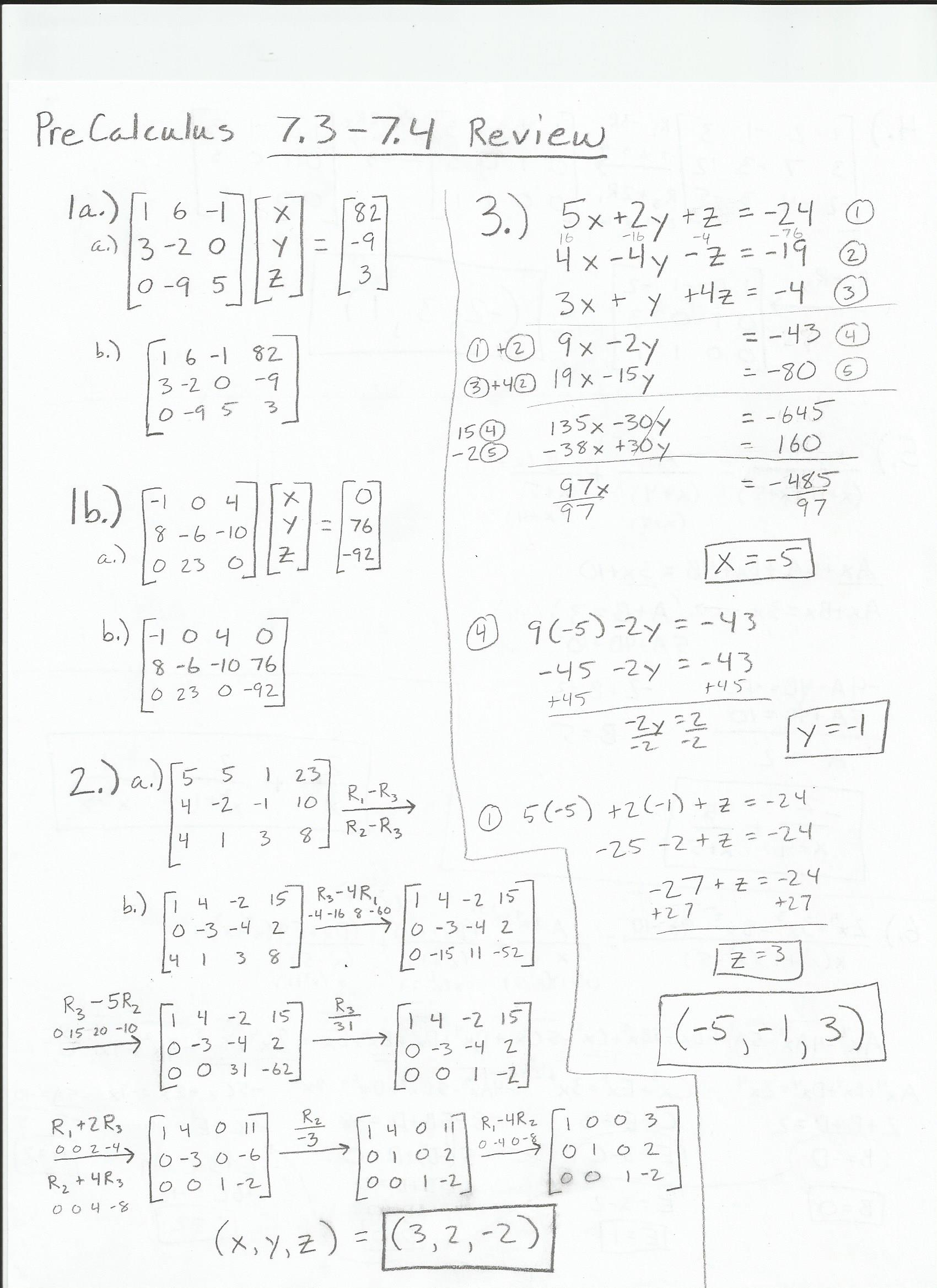 Cheat Sheet Precalculus