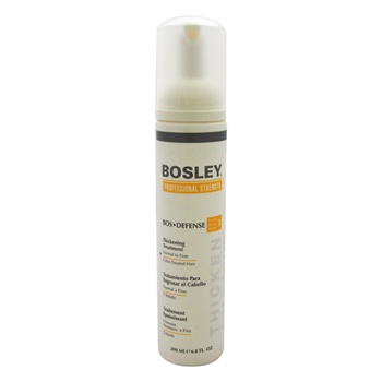 bosley bos defense thickening treatment for normal to fine color treated hair the beauty club