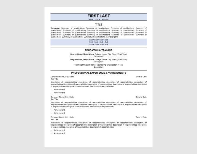 Entry Level Resume New Graduate