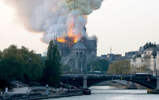 Notre Dame Cathedral ablaze in Paris