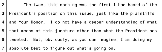 This transcript of comments from a DoJ lawyer is doing the rounds ... Its not about forex but it really is .... I couldn't help but giggle.