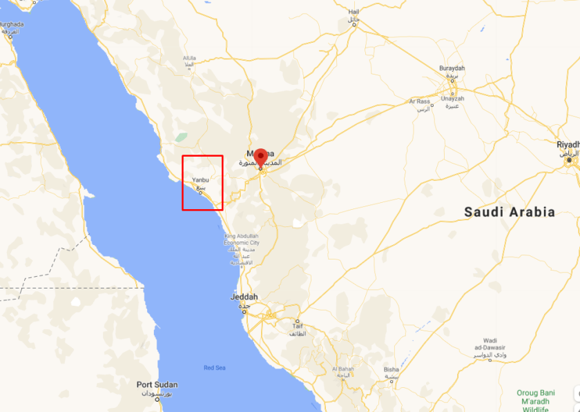 The rumour is two ballistic missiles intercepted near Yenbu in Saudi Arabia