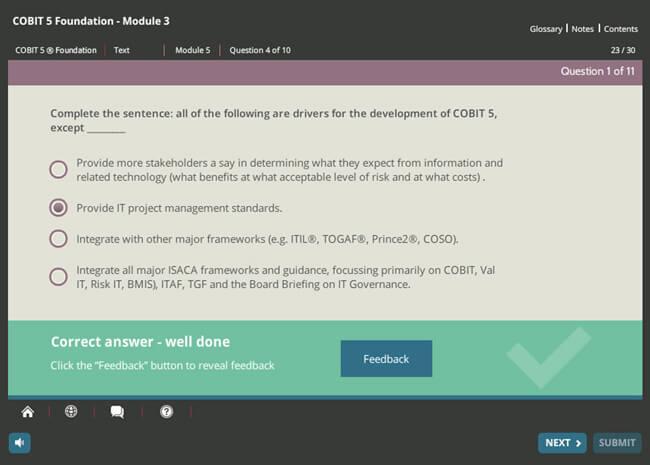 COBIT® 5 Foundation Screenshot 6