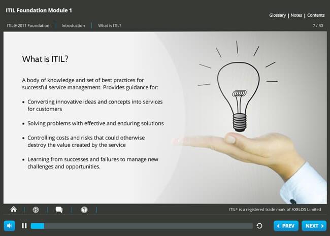 ITIL® 2011 Foundation Screenshot 1