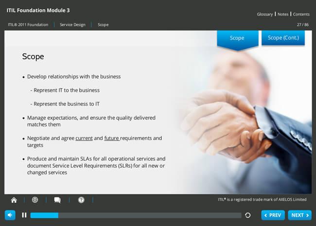 ITIL® 2011 Foundation Screenshot 6