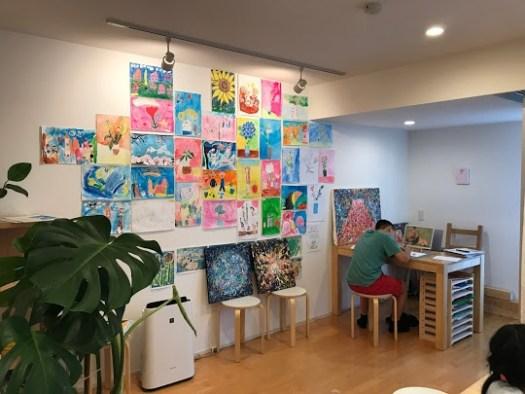 絵画教室を作る | 壁面の絵 | 麻布アトリエ