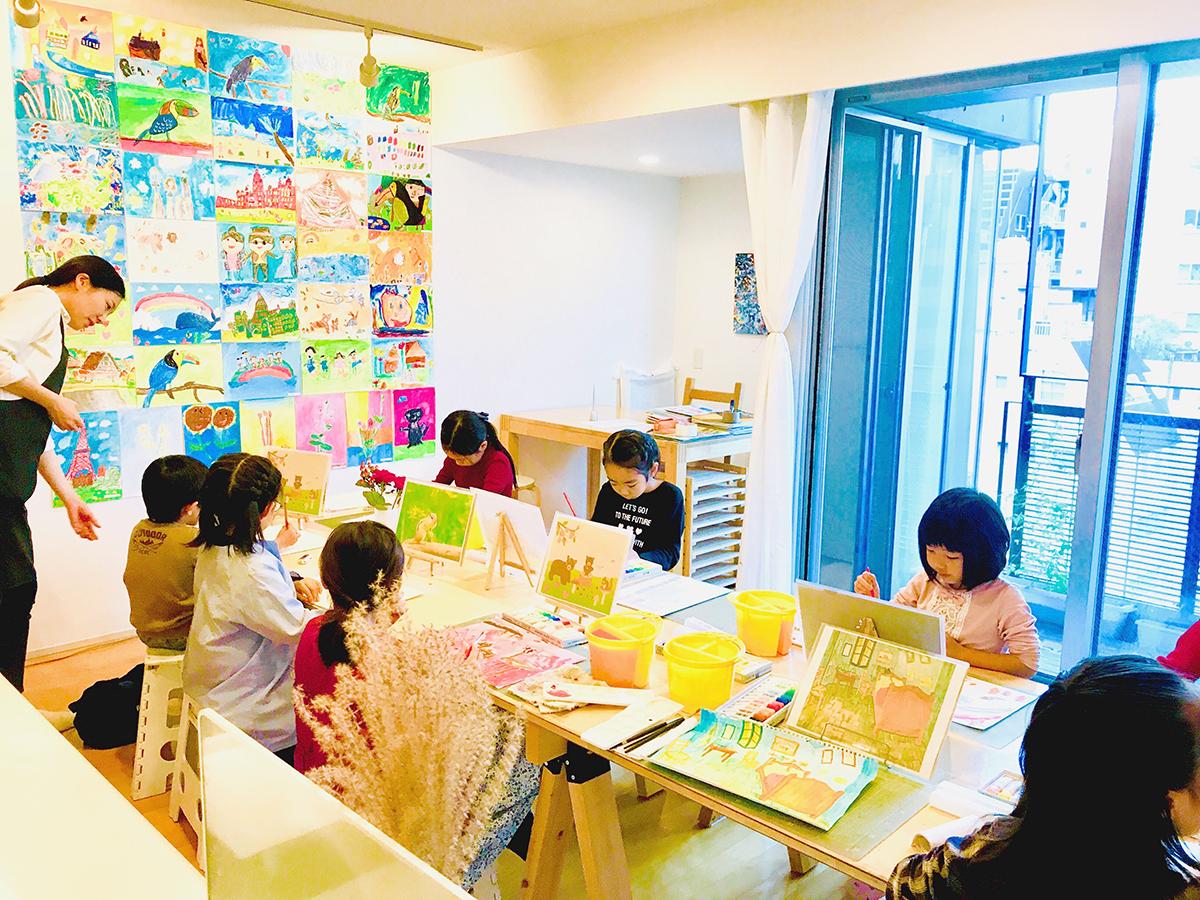 子供絵画教室の様子 | 麻布アトリエ 2018