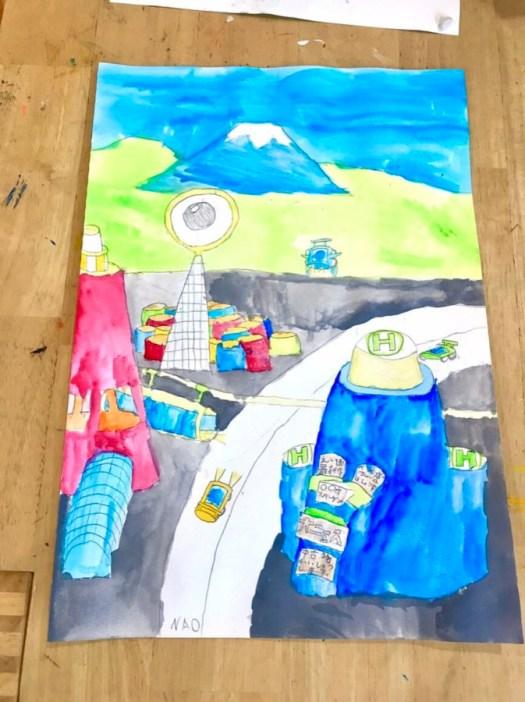 未来の街の絵 麻布アトリエ 子供絵画教室