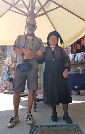 Avec Maria à Olympos.