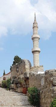 Le minaret de la mosquée de Soliman (Rhodes)
