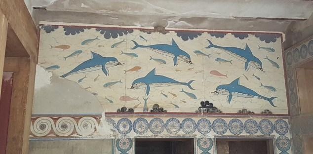 Knossos, les dauphins.