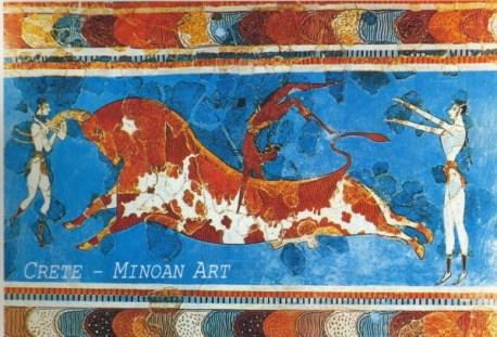 Knossos, scène de tauromachie.
