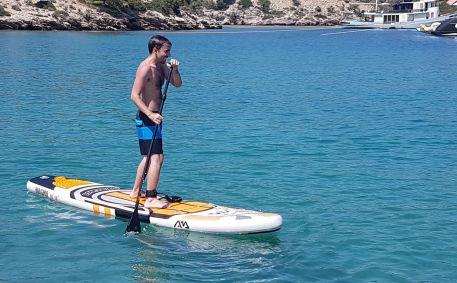 David sur le paddle