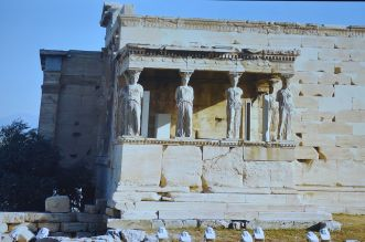 Caryatides de l'Érechthéion Athènes 2020