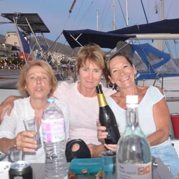 Les Jeanne en bateau... Karystos 2020