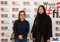 Leah Laping, Nilofer Baig (Content Coordinator, Editor in Chief Dubai PR Network) from left to right.