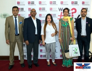 Arslan Ali (Co- Founder Fixonclick), Yasmeen Bhat, Wayne Gomez, Maxley Wilkins, Aleem Sheikh (Yas Media Group) from right to left