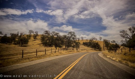 On the road, California