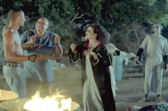 بالفيديو شاهد دنيا سمير غانم ومحمد رمضان كيف يرقصان بعد تحولهما لزومبي في لهفة أزاميل