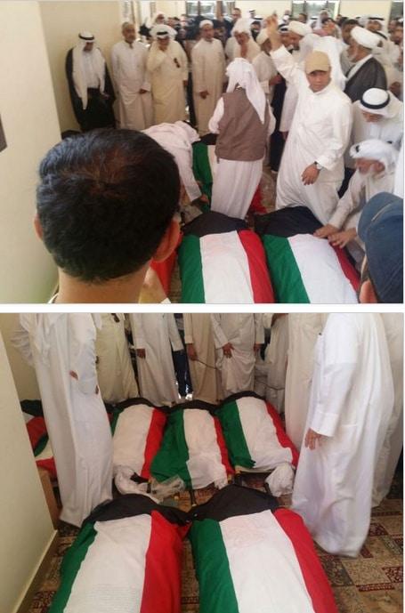 تفجير الكويت-جثامين الضحايا