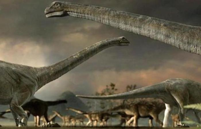 العثور على ديناصور بحجم باص في مصر يدعى منصور سوروس شاهين أزاميل