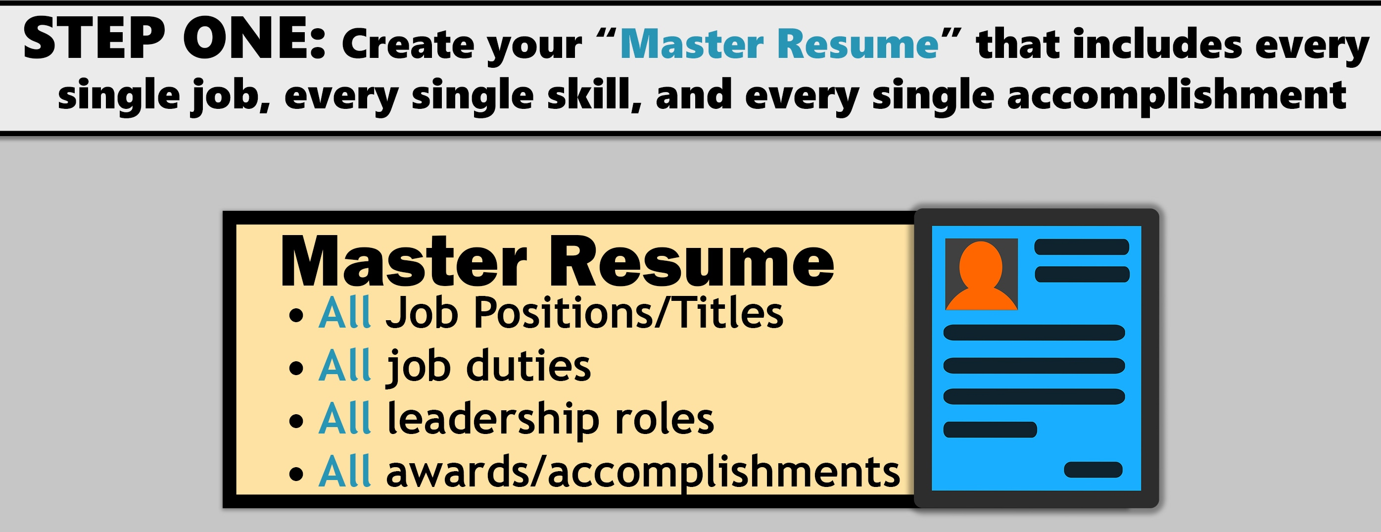 tailored resume infographic step one