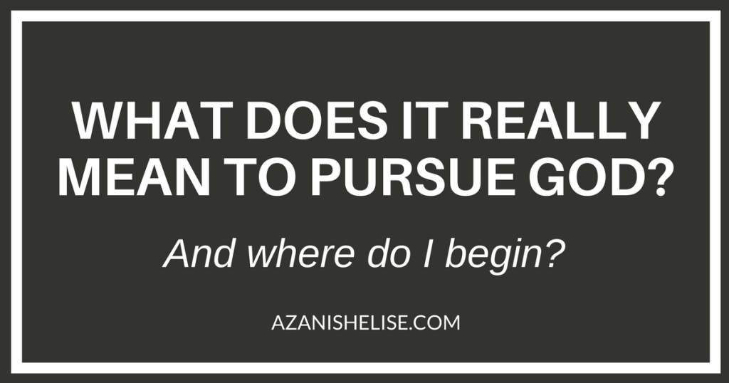 Pursue God Graphic
