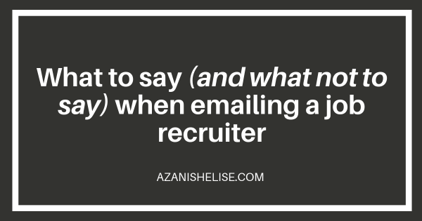 Graphic - How to effectively email a job recruiter