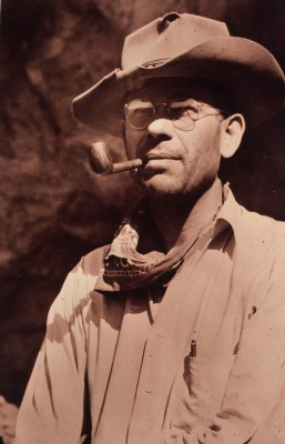Emil W Haury dressed for field work, 1930's