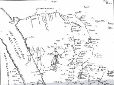 Father Kino's Map of the Pimera Alta from Bolton