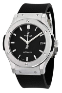 Hublot Classic Fusion Black Dial Black Rubber Mens 45mm Watch 511.NX.1171.RX