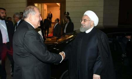 Արմեն Սարգսյանը հյուրընկալել է Իրանի նախագահ Հասան Ռոհանիին