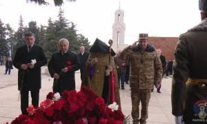 Հարգանքի տուրք Ստեփանակերտում՝ նվիրված Սումգայիթյան ցեղասպանության անմեղ զոհերի հիշատակին