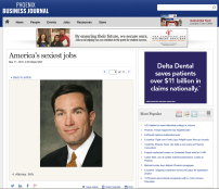 """Screenshot of the Phoenix Business Journal's """"sexiest occupations"""" attorney page, April 3, 2015."""
